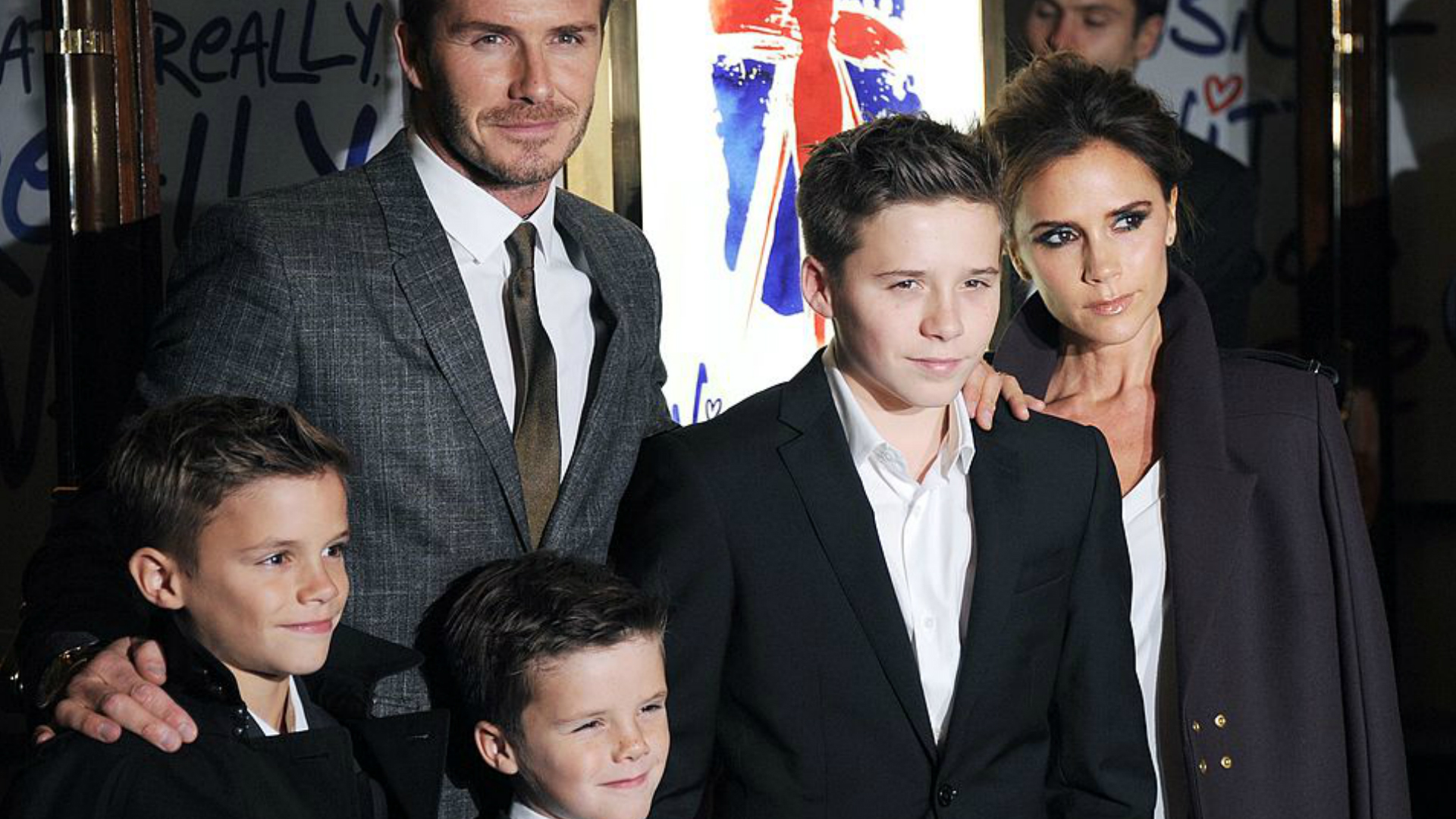 Cruz Beckham with his family