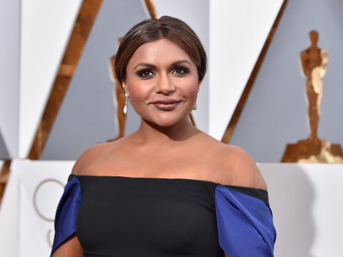 Actress Mindy Kaling attends the 88th Annual Academy Awards at Hollywood Highland Center on February 28, 2016 in Hollywood, California.