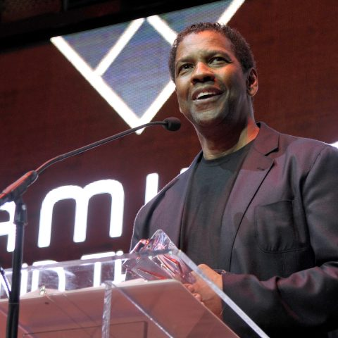LOS ANGELES, CA - NOVEMBER 06: Actor Denzel Washington speaks onstage during the Hamilton Behind The Camera Awards presented by Los Angeles Confidential Magazine at Exchange LA on November 6, 2016 in Los Angeles, California. at Exchange LA on November 6, 2016 in Los Angeles, California. (Photo by John Sciulli/Getty Images for LA Confidential)