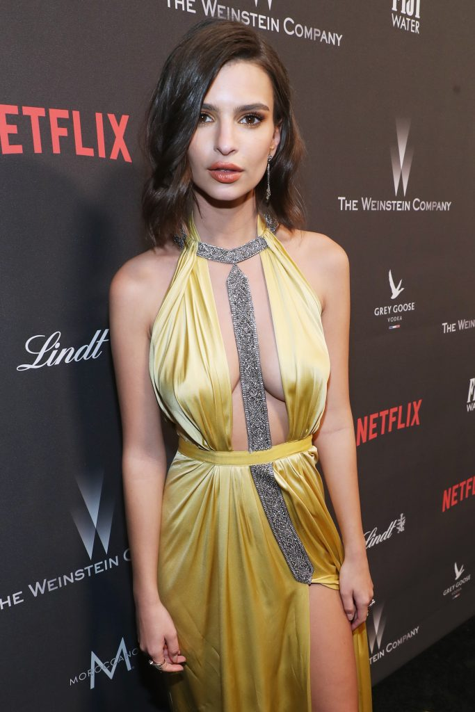 Emily Ratajkowski looked even more beautiful with a sexy yellow dress