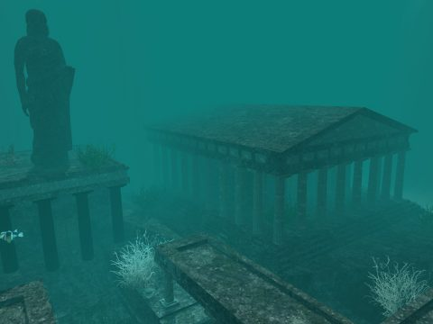 An artist's impression of the City of Atlantis.