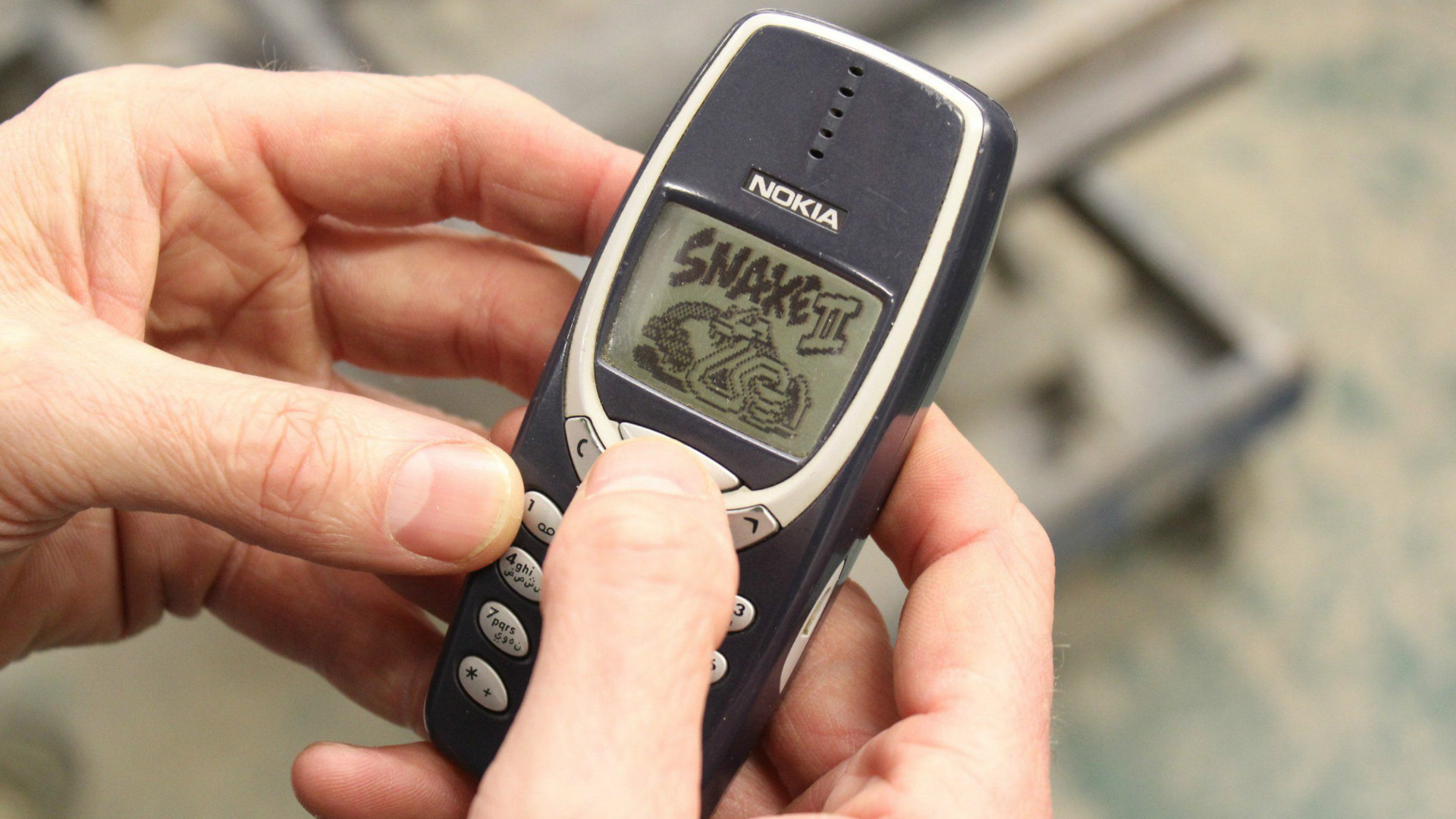 The Nokia 3310 mobile phone.