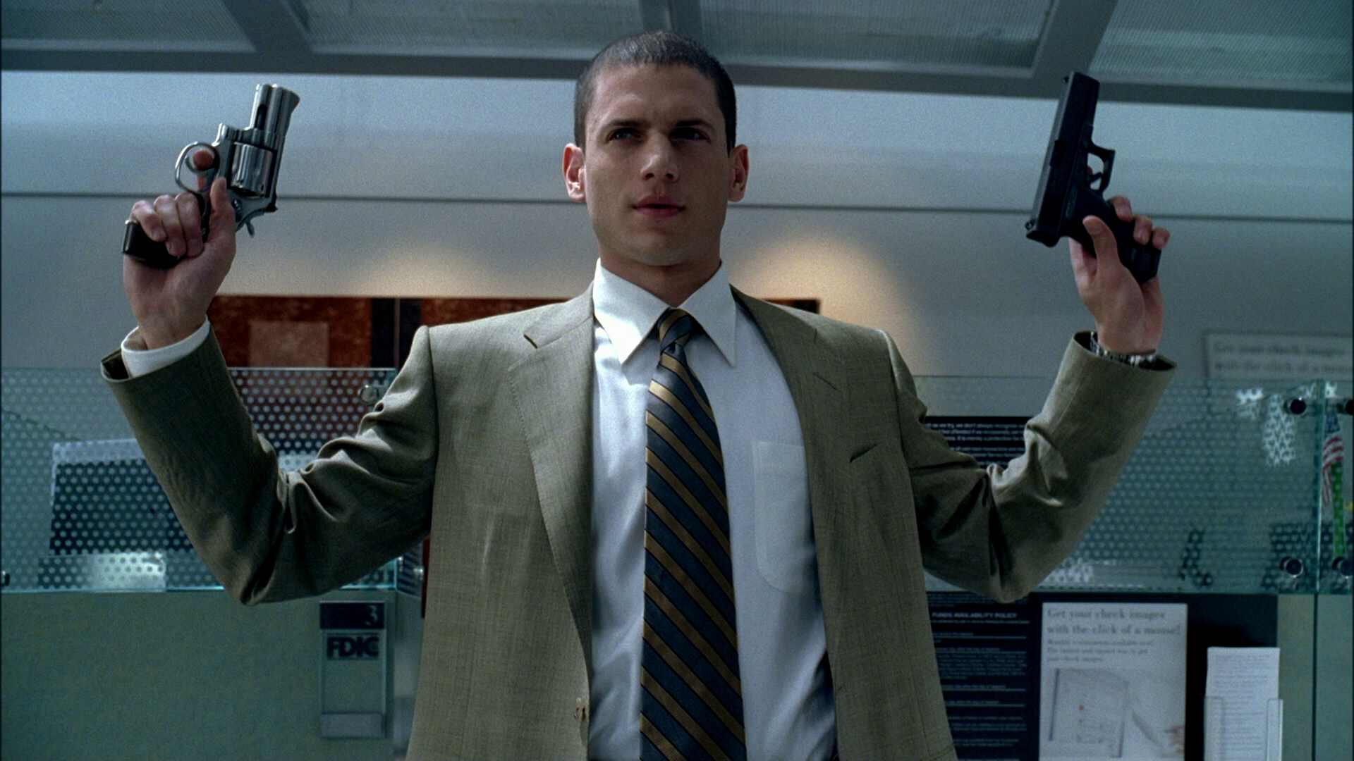 Wentworth Miller as Michael Scofield.