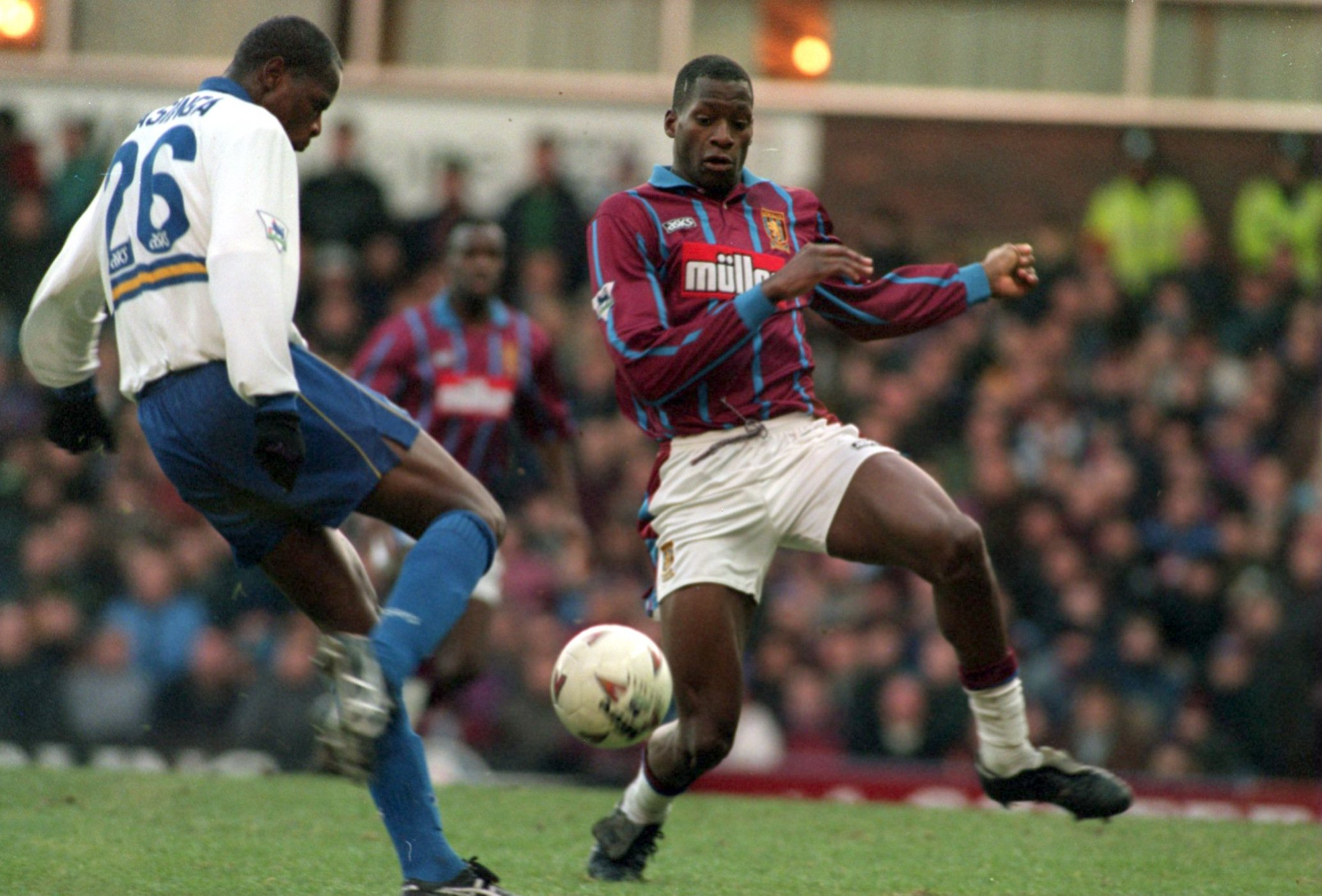 Ugo Ehiogu in his early days at Aston Villa