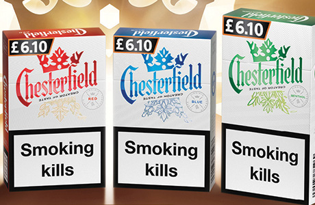 Some packs of chesterfield