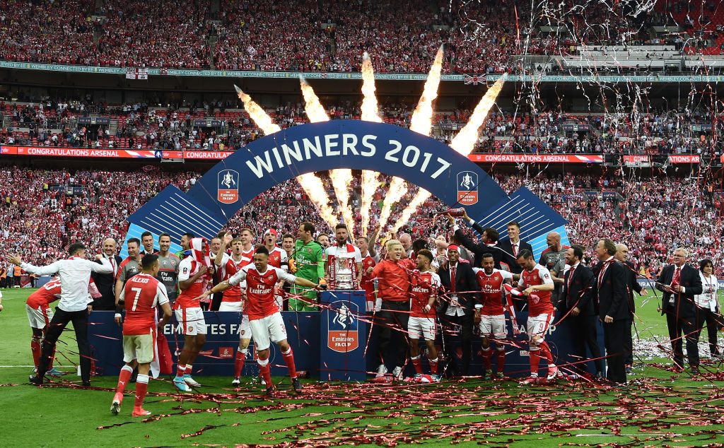 Arsenal win the FA Cup final