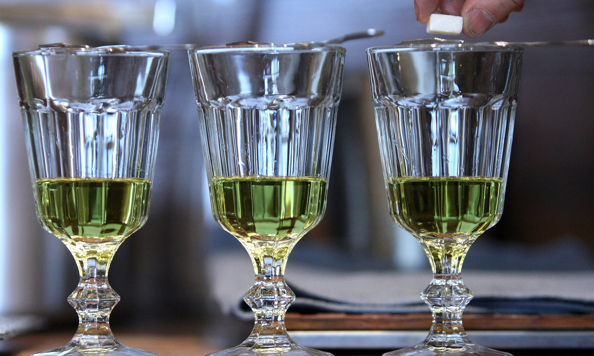 The spirit drink Absinthe.
