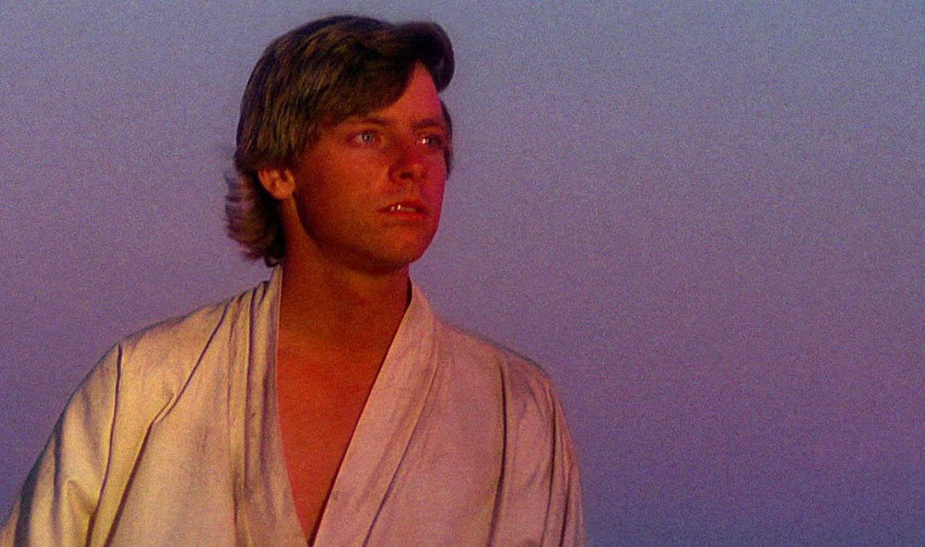 Luke Skywalker in Star Wars.