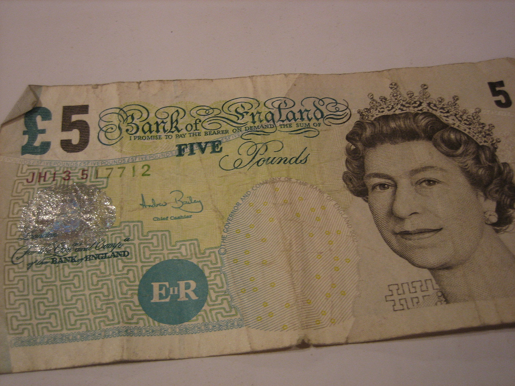 The old five pound note