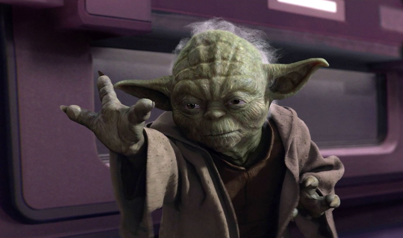 Yoda in Star Wars.