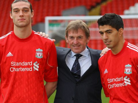 Andy Carroll and Luis Suarez sign for Liverpool