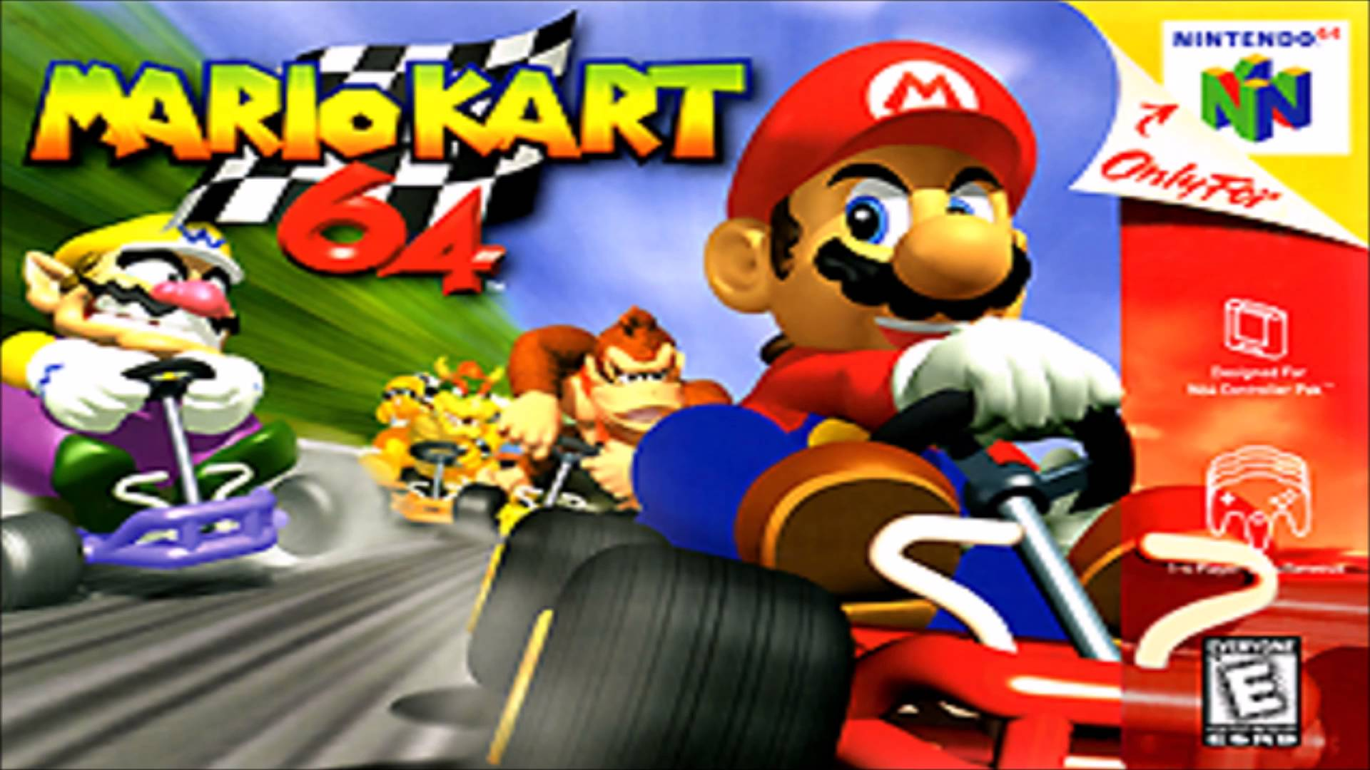 Mario Kart 64 on the Nintendo 64.
