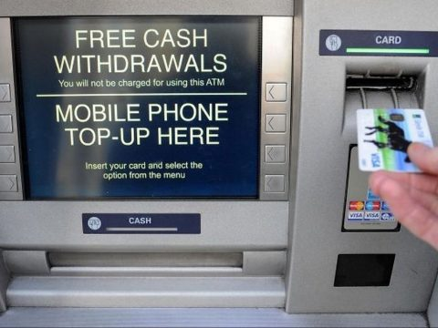 A standard cash machine.