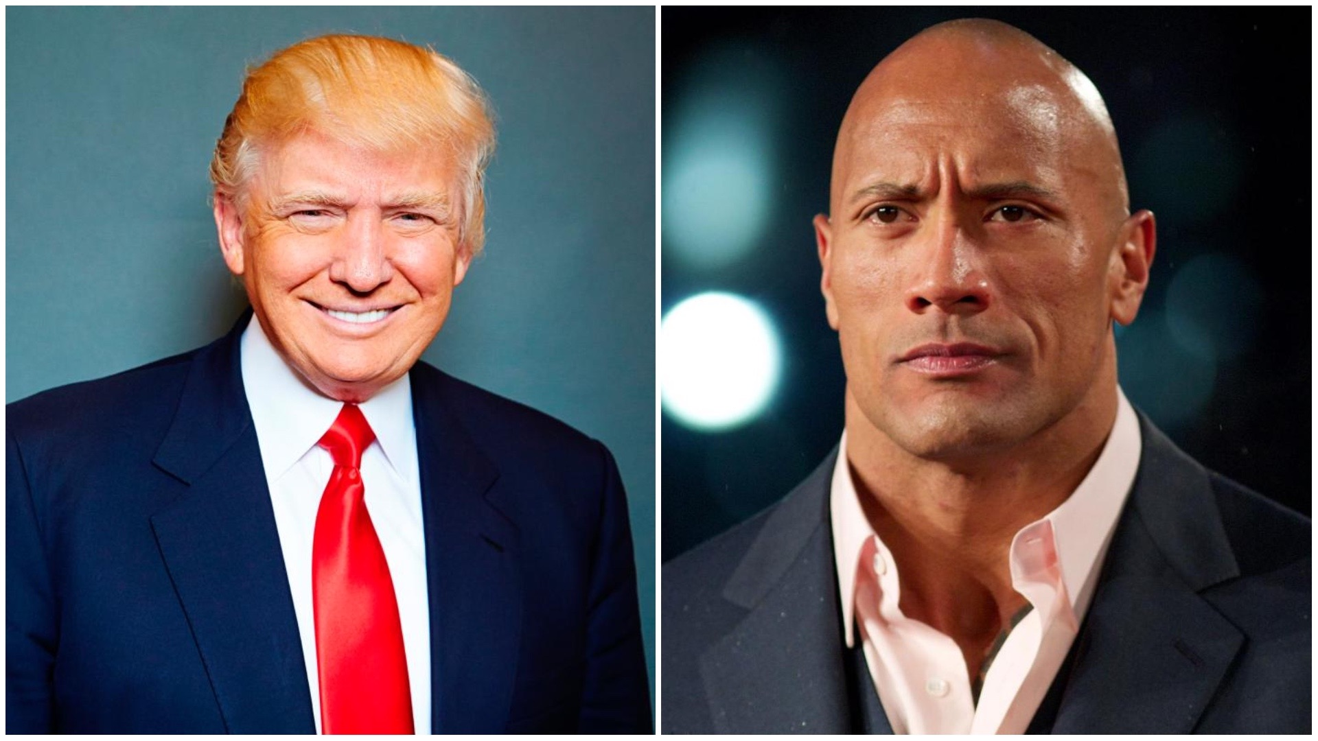 Donald Trump and Dwayne Johnson.