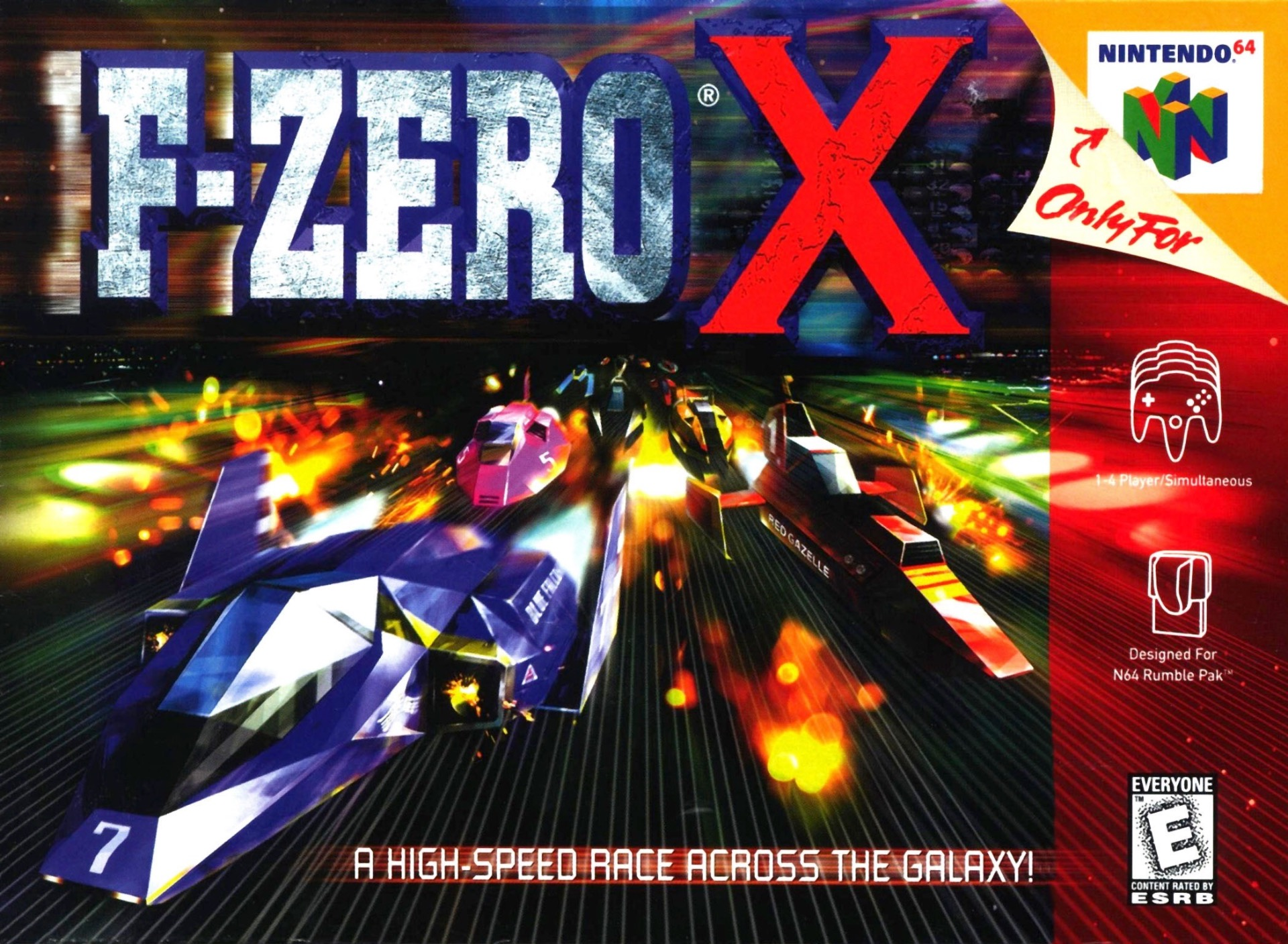 F-Zero X on the Nintendo 64.