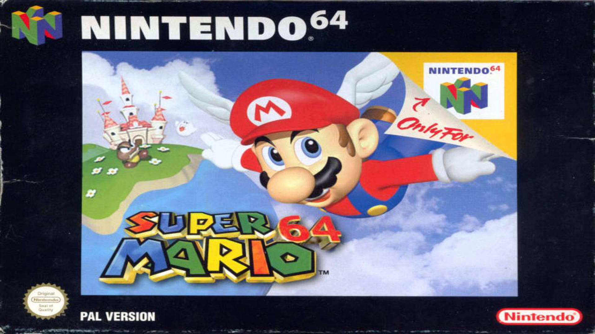 Super Mario 64 on the Nintendo 64.