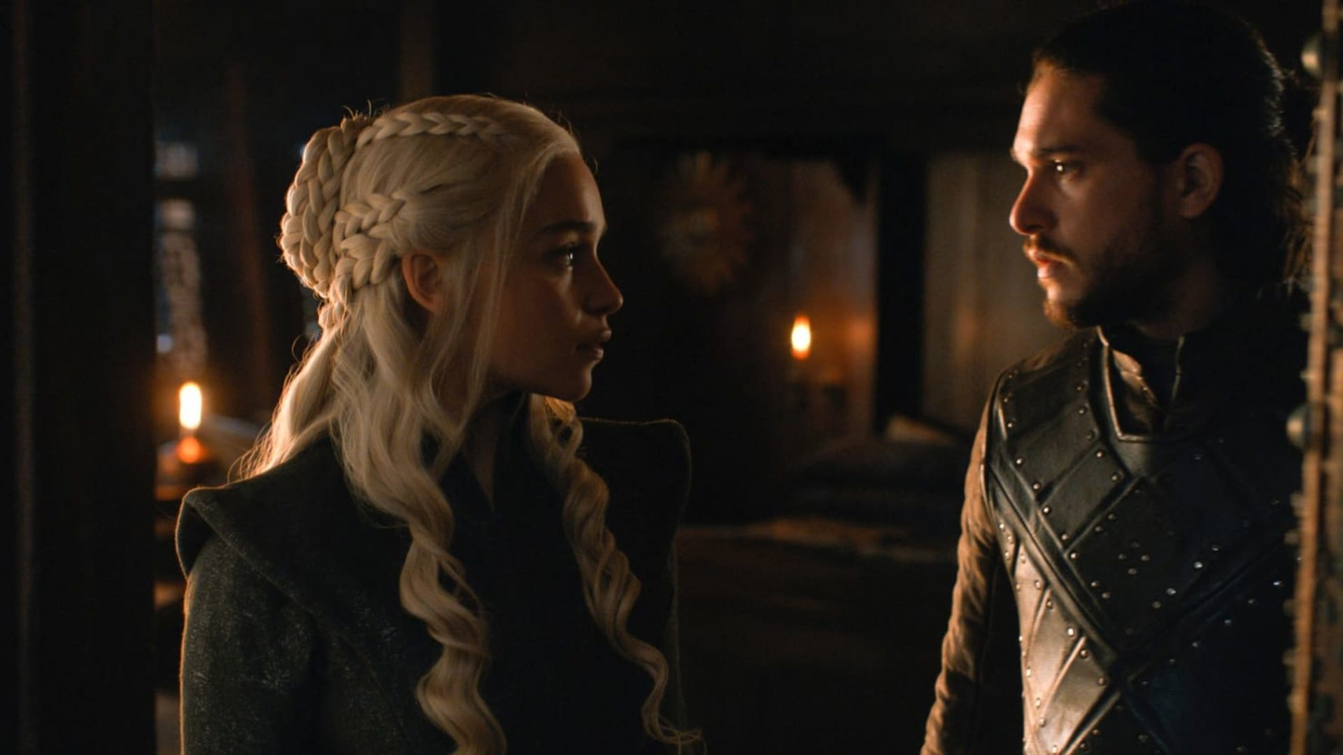 Jon Snow and Daenerys in Game of Thrones
