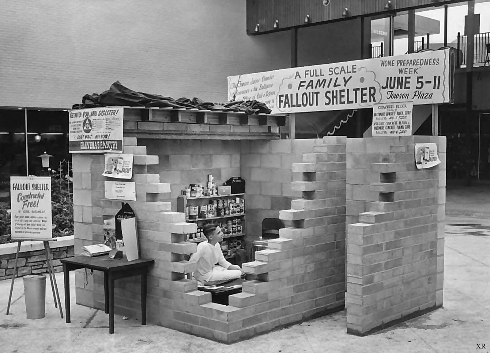 A 1950s nuclear shelter.