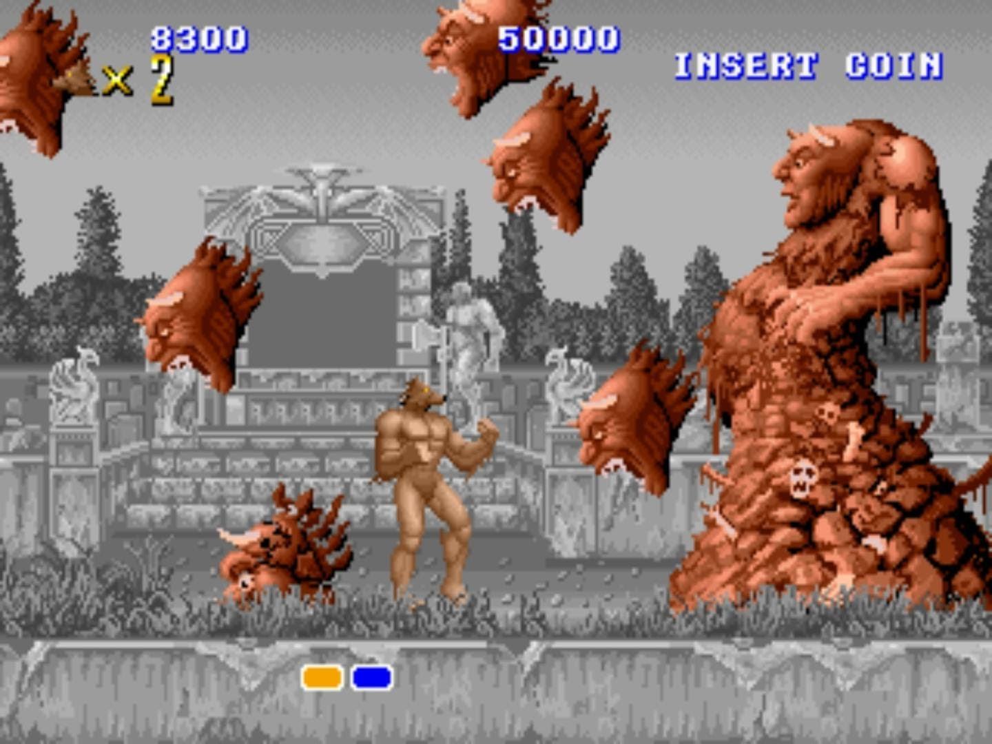 Altered Beast the arcade version.