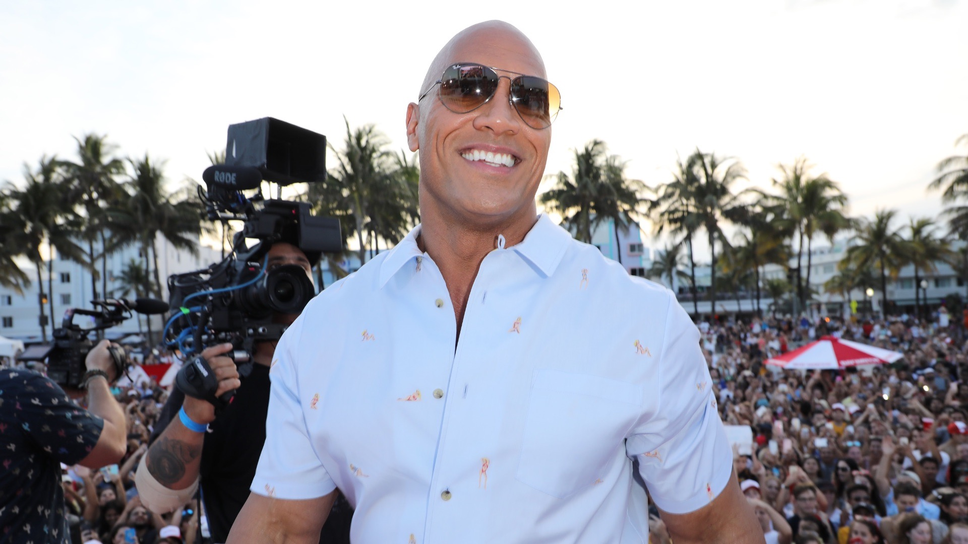 Baywatch star Dwayne Johnson.