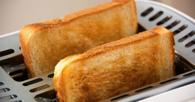 Two slices of toast.