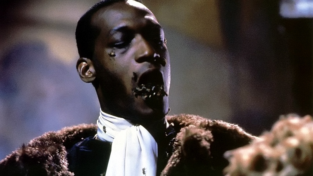 Candyman with bees in the mouth.