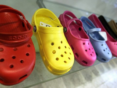 A selection of Crocs.