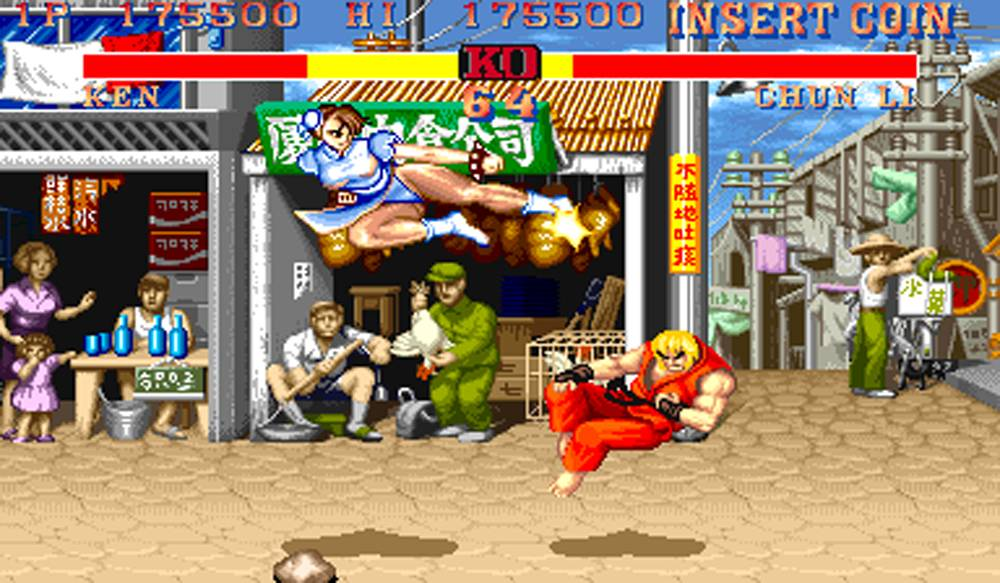Chun-Li in Street Fighter.