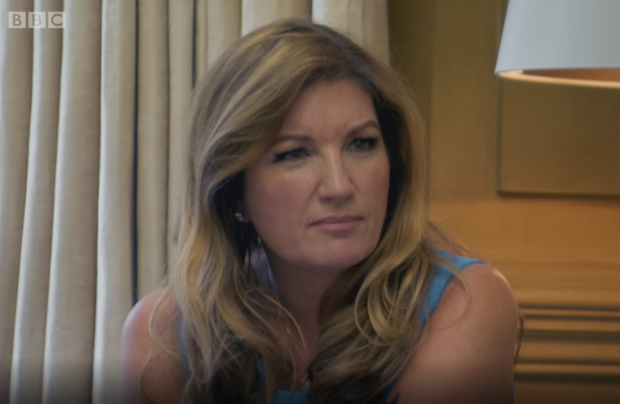 Karren Brady and the scowl of disapproval.