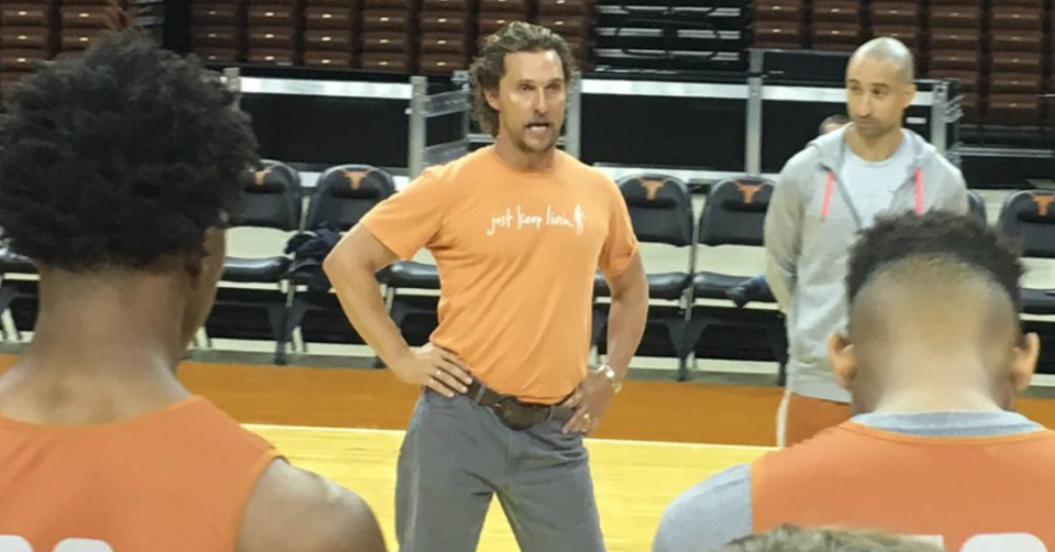 Matthew McConaughey strikes a pose.