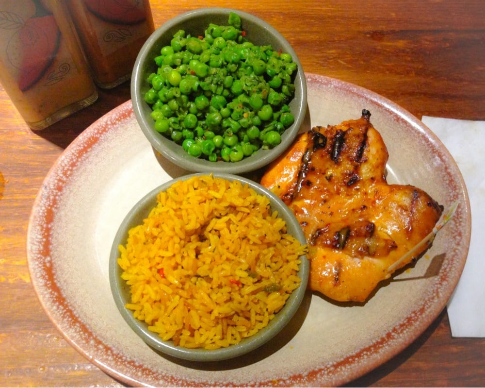 Rice and peas from Nando's.