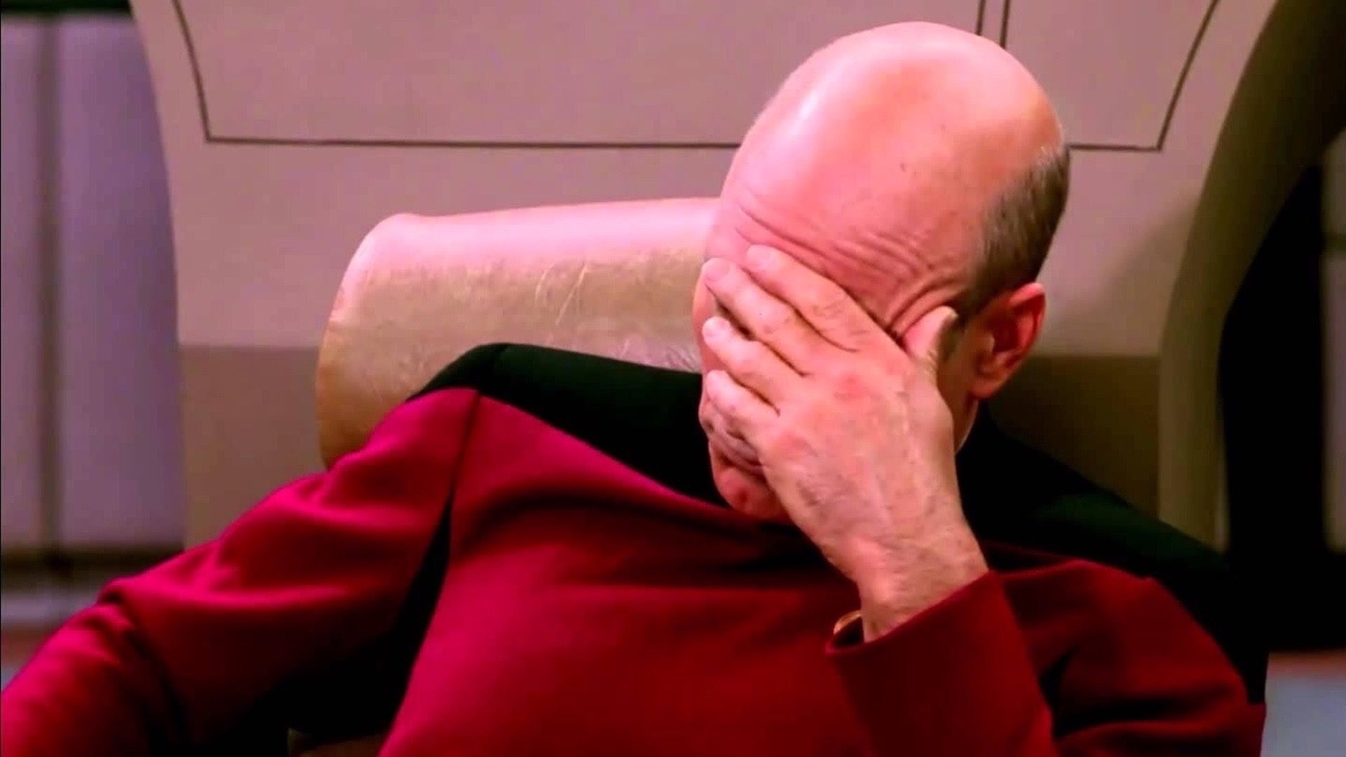 The Star Trek facepalm meme.
