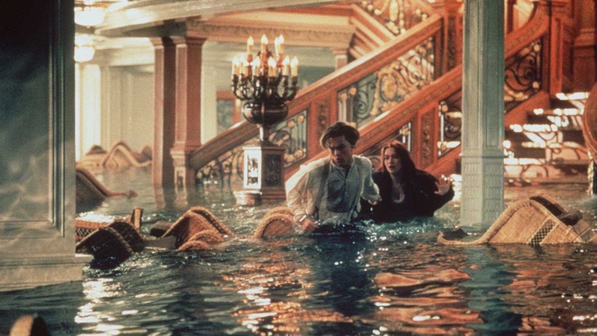 Jack and Rose in Titanic.