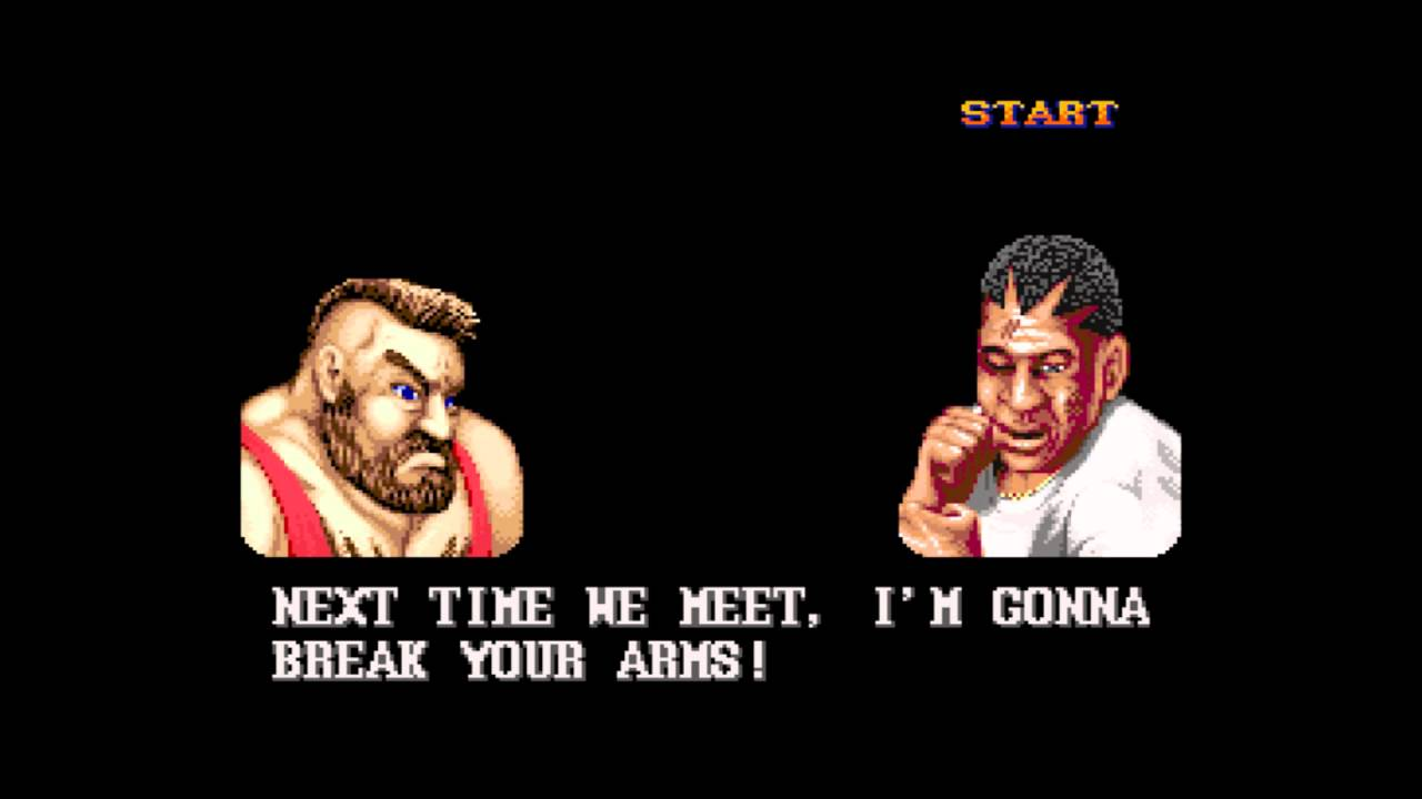 Zangief in Street Fighter.