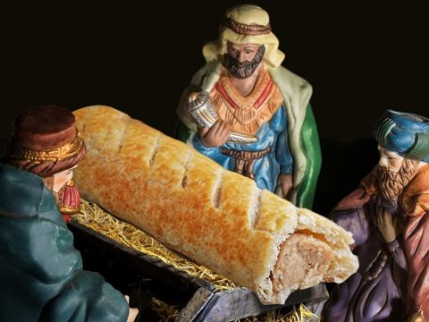 The sausage roll of sacrilege.