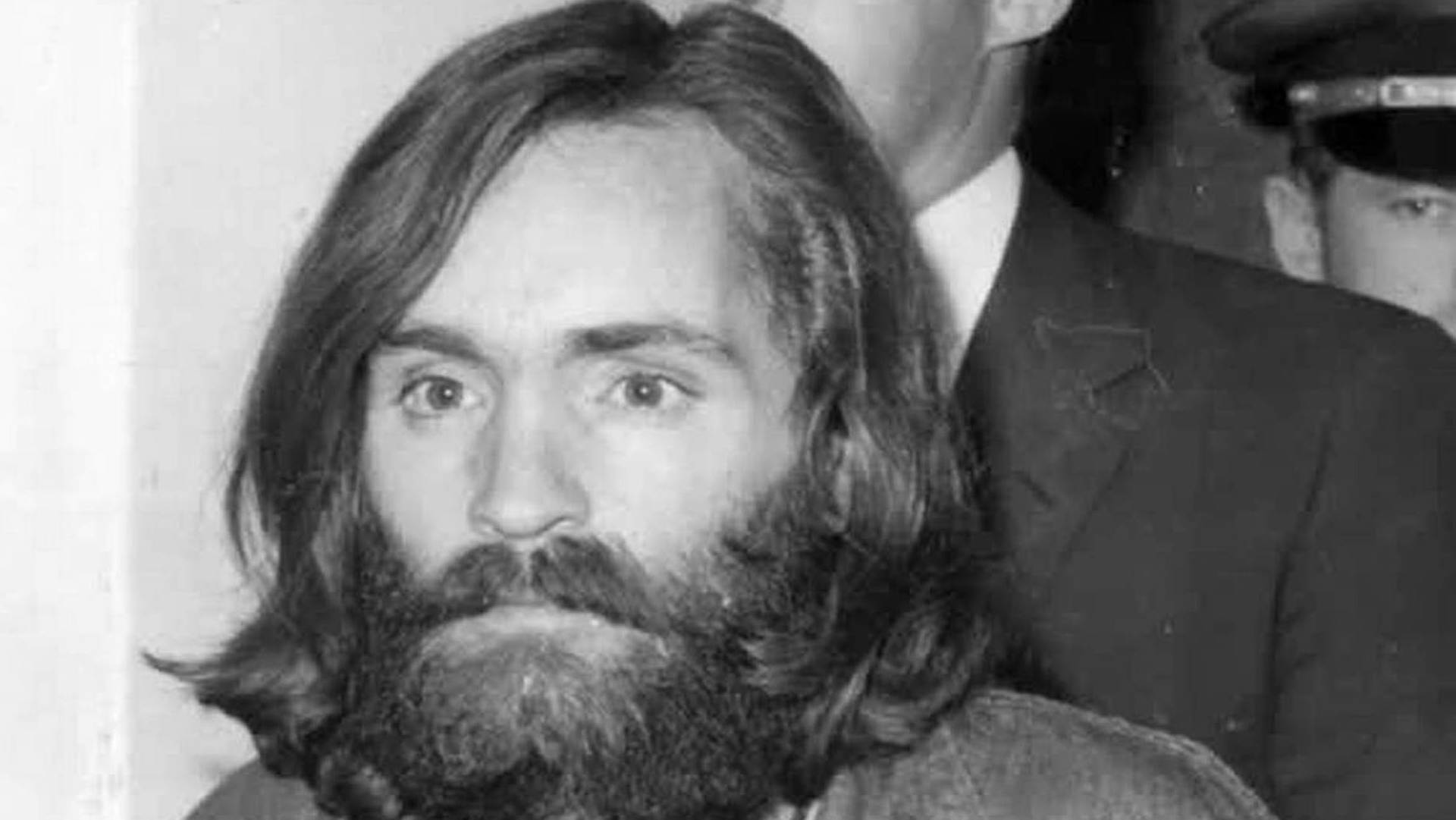 Charles Manson following his arrest.
