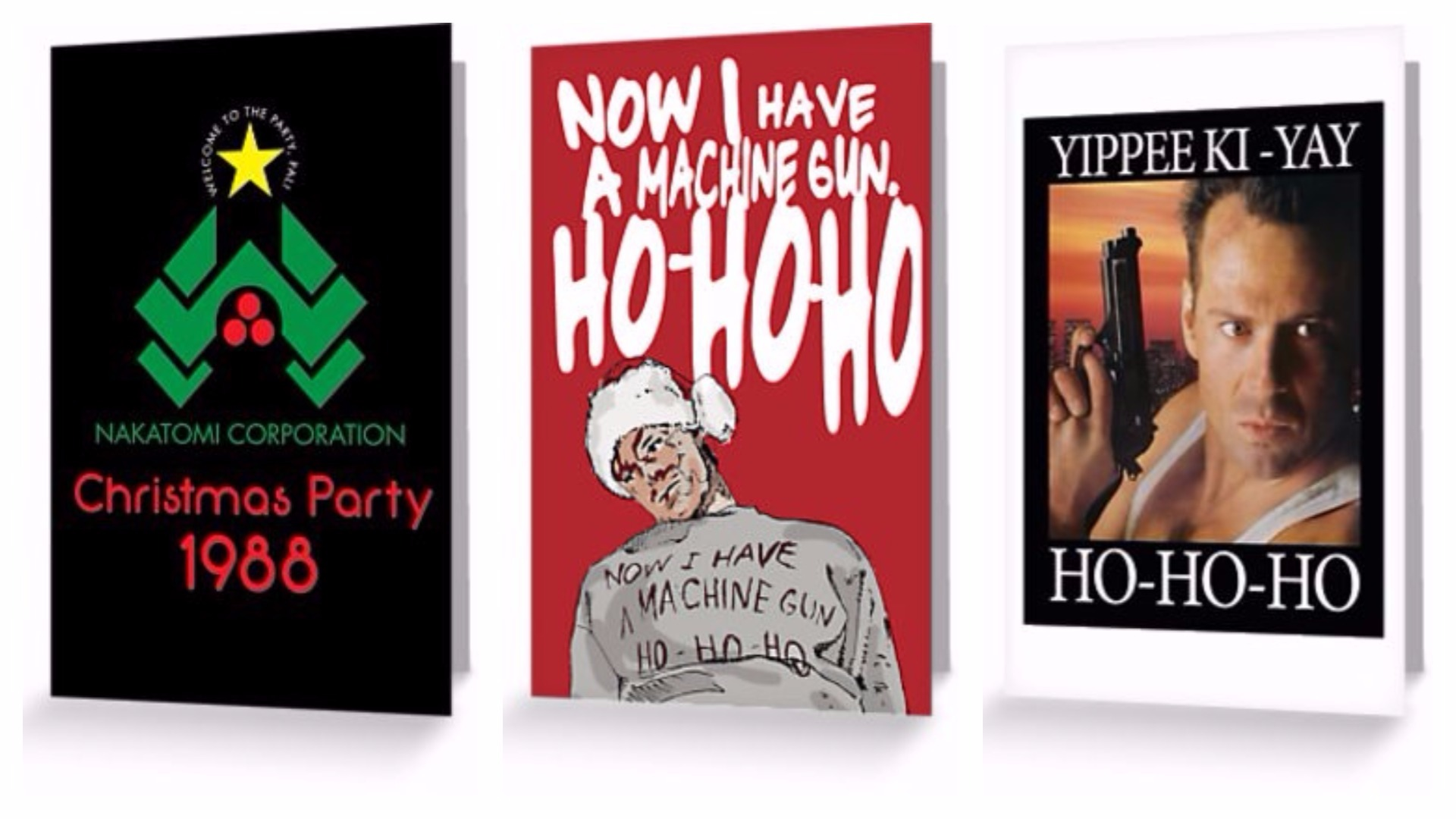 The Die Hard Christmas cards.