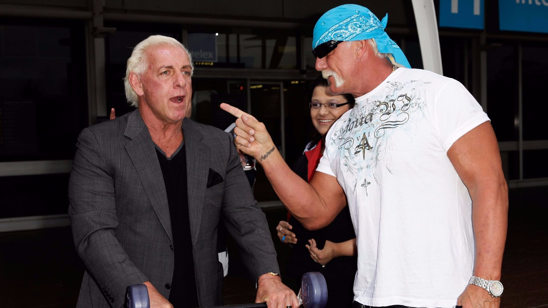 WWE legend Ric Flair and Hulk Hogan.