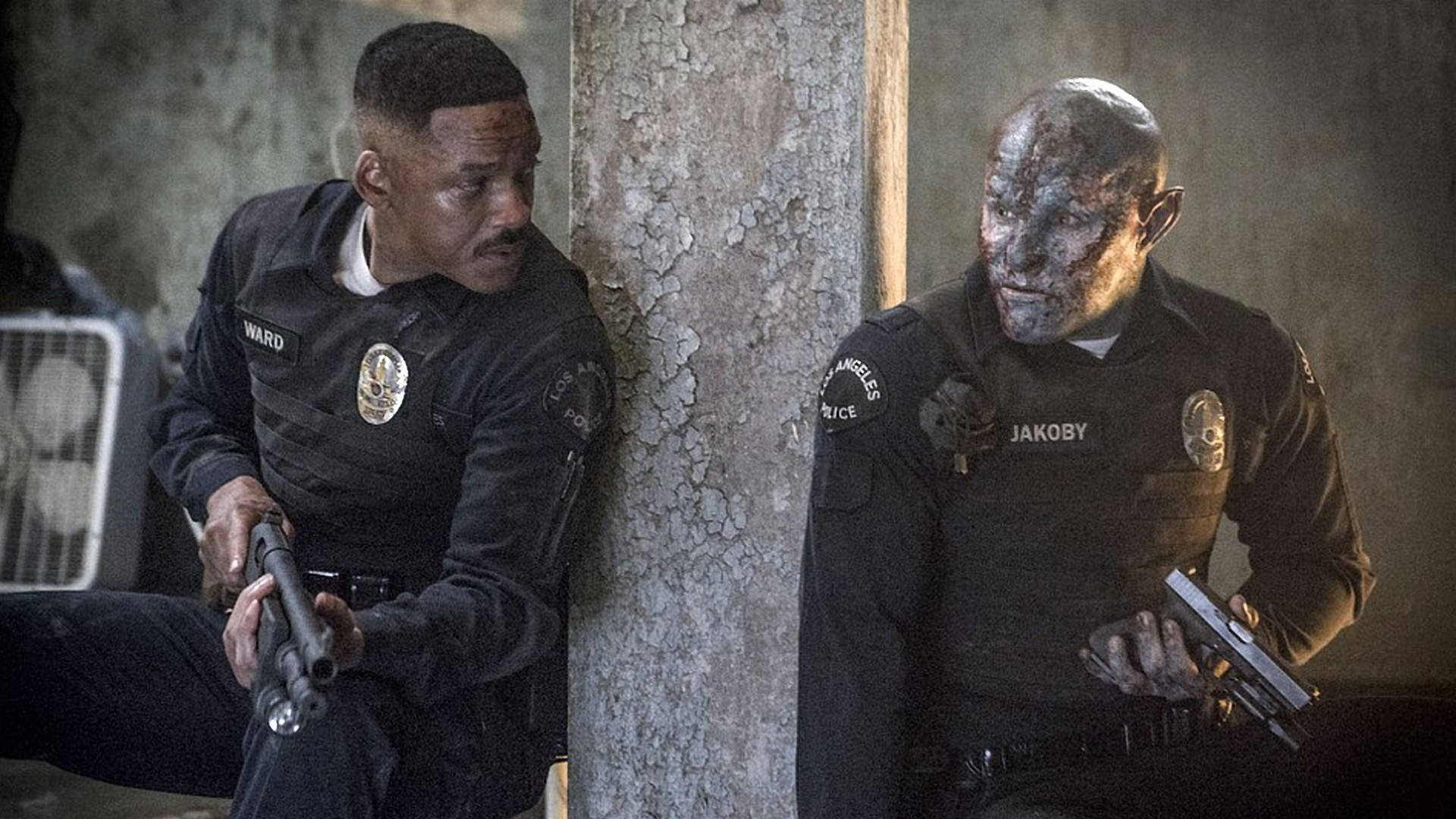Will Smith and Joel Edgerton in Bright.