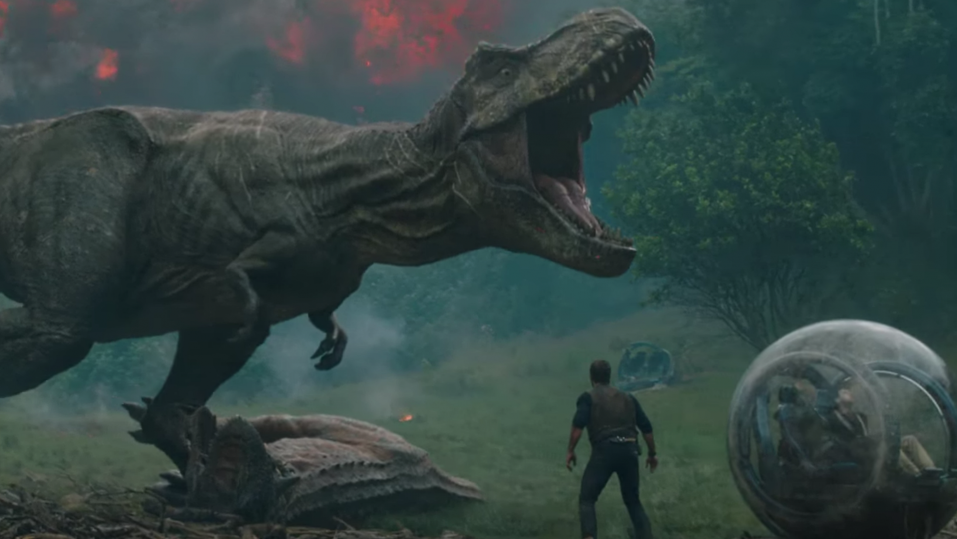 The first trailer for Jurassic World 2 has arrived.
