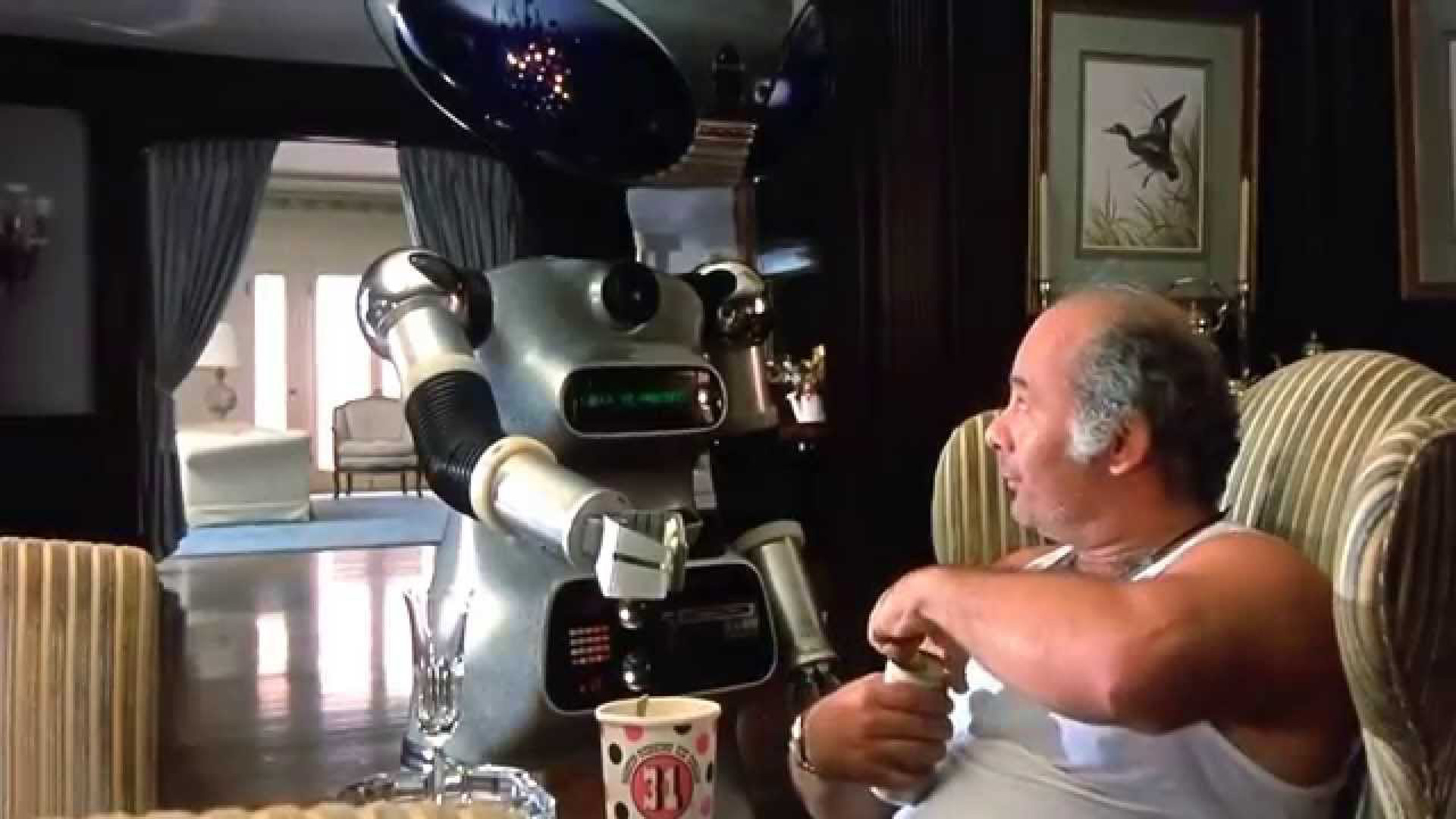 The robot butler from Rocky IV.