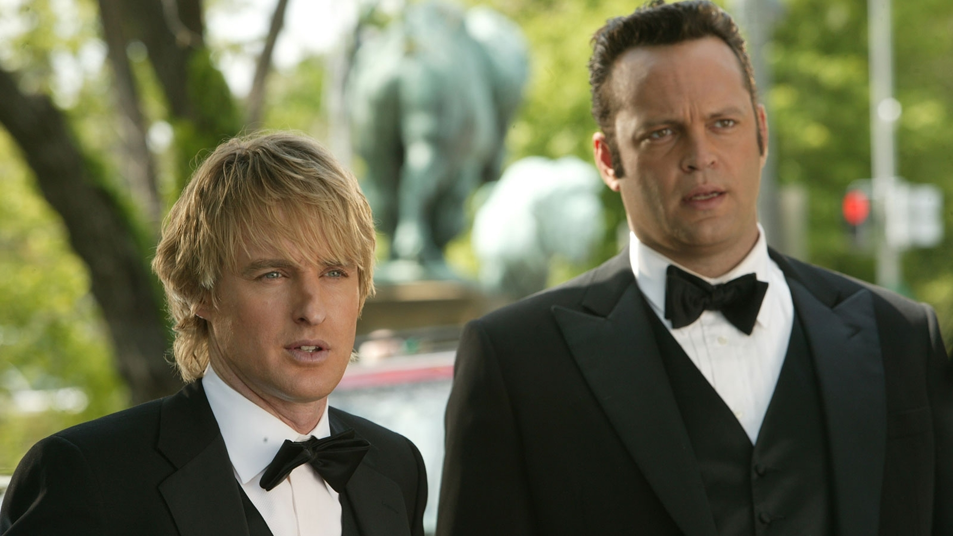 Owen Wilson and Vince Vaughn in The Wedding Crashers.