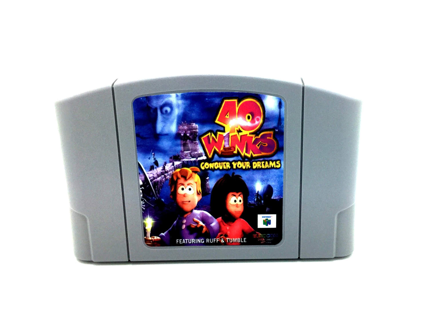 The 40 Winks Nintendo 64 cartridge.