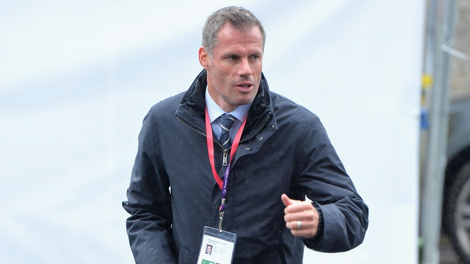 Jamie Carragher during the Premier League match between Burnley and Liverpool at Turf Moor on August 20, 2016 in Burnley, England.