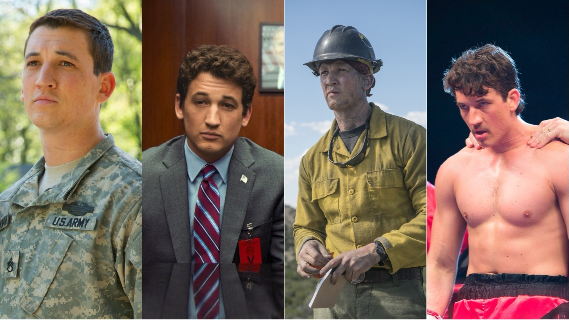 A selection of Miles Teller biopics.