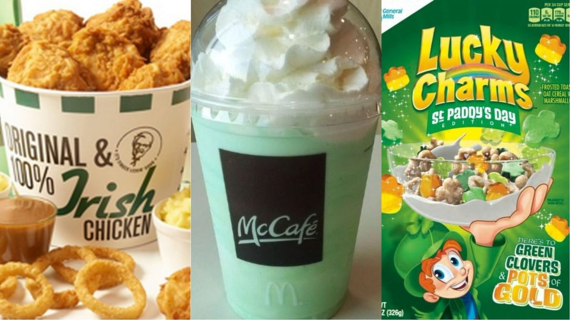 St. Patrick's Day food and drink.