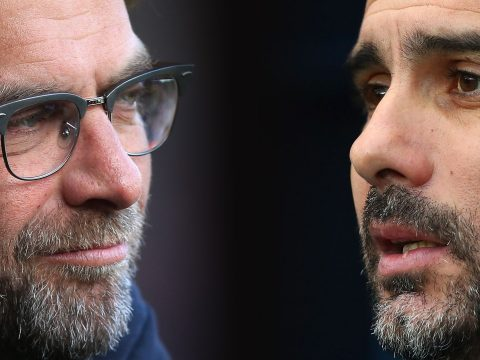 Jurgen Klopp and Pep Guardiola.