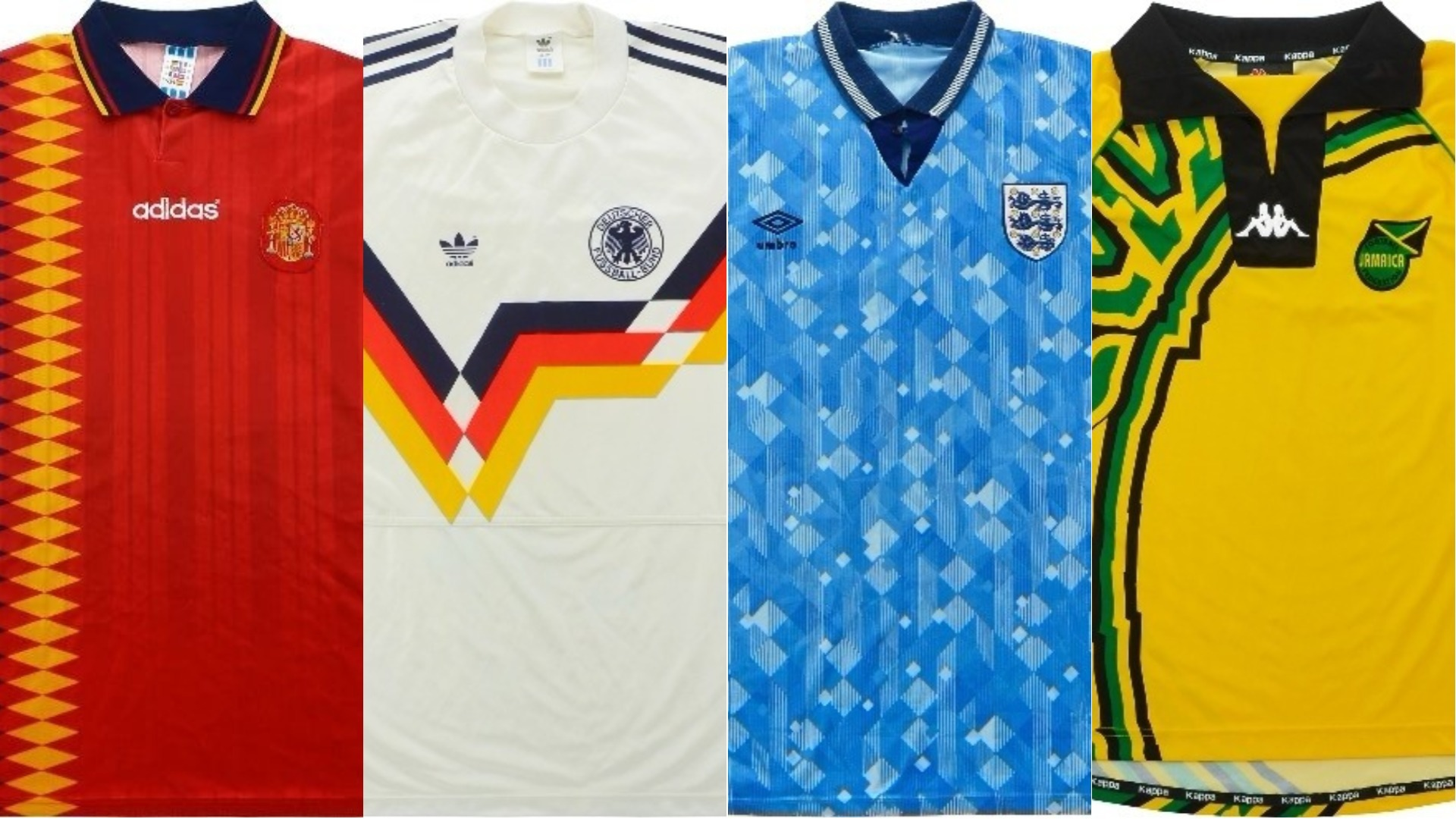 International football shirts.