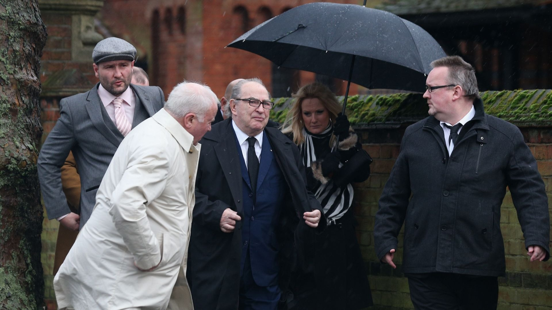 Fred Foreman at the funeral of Ronnie Biggs.