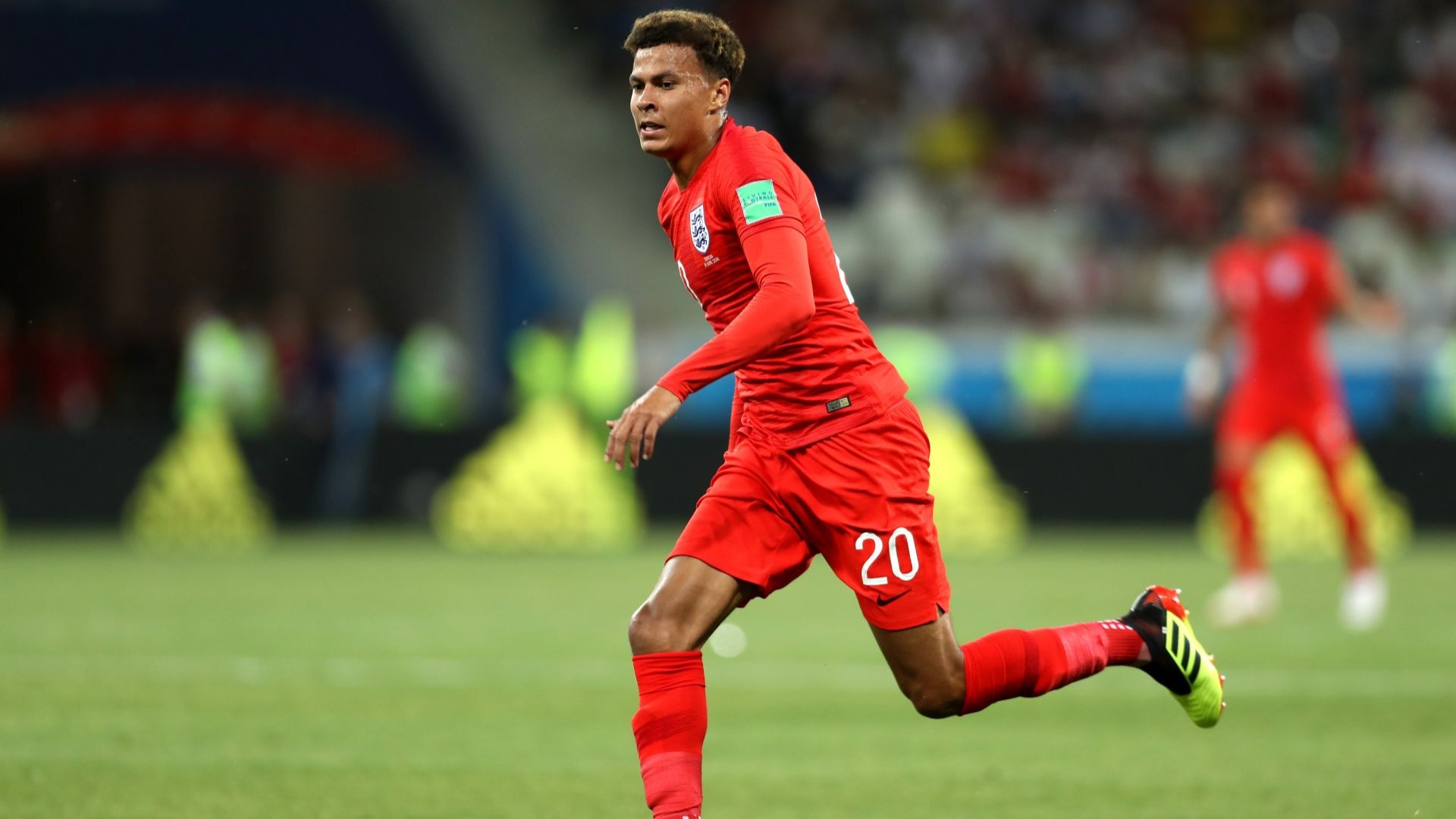 Dele Alli playing for England.